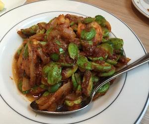 サトー豆と小エビの炒め物